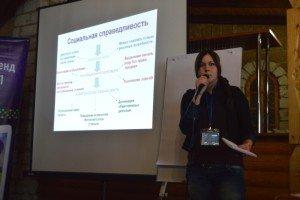 Кононенко Юлія презентує роботу групи