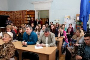 Під час лекції Якова Рабкіна.